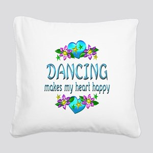Dancing Heart Happy Square Canvas Pillow