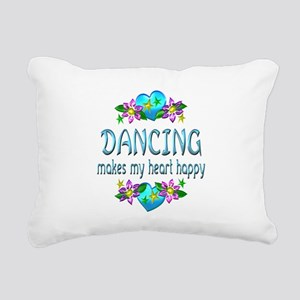 Dancing Heart Happy Rectangular Canvas Pillow