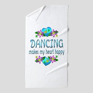 Dancing Heart Happy Beach Towel