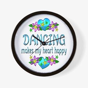 Dancing Heart Happy Wall Clock
