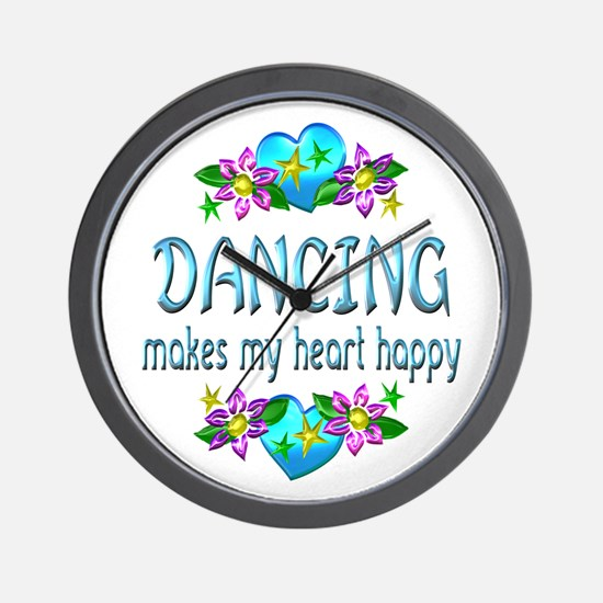 Dancing Heart Happy Wall Clock