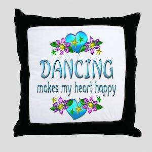 Dancing Heart Happy Throw Pillow
