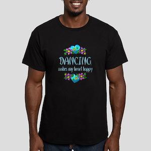 Dancing Heart Happy Men's Fitted T-Shirt (dark)