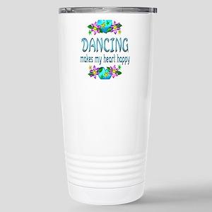 Dancing Heart Happy Stainless Steel Travel Mug