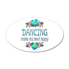 Dancing Heart Happy Wall Sticker