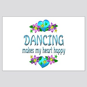Dancing Heart Happy Large Poster