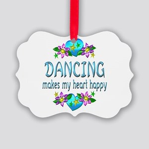 Dancing Heart Happy Picture Ornament