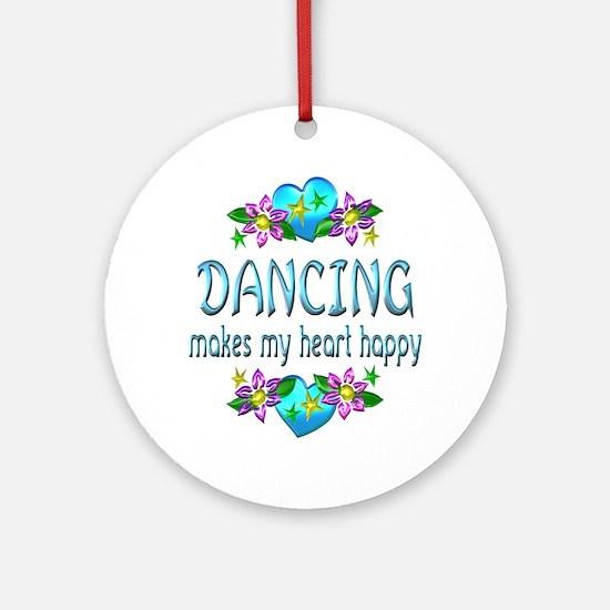 Dancing Heart Happy Ornament (Round)