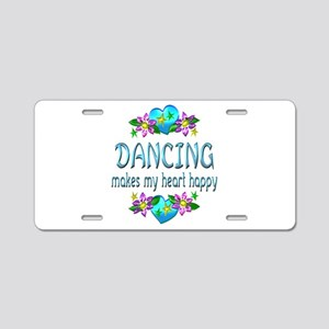 Dancing Heart Happy Aluminum License Plate