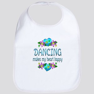 Dancing Heart Happy Bib