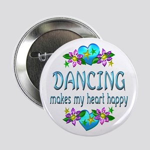 "Dancing Heart Happy 2.25"" Button"
