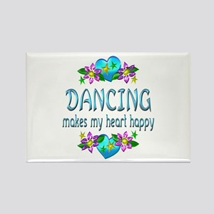 Dancing Heart Happy Rectangle Magnet