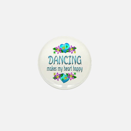 Dancing Heart Happy Mini Button