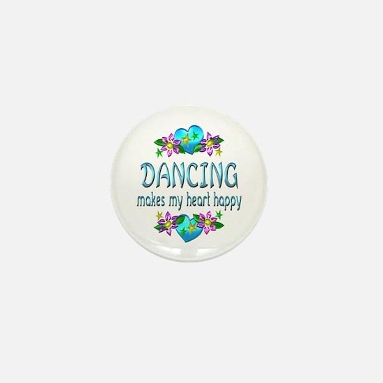 Dancing Heart Happy Mini Button (10 pack)