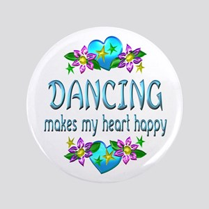 "Dancing Heart Happy 3.5"" Button"