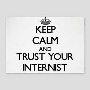 Keep Calm and Trust Your Internist 5'x7'Area Rug