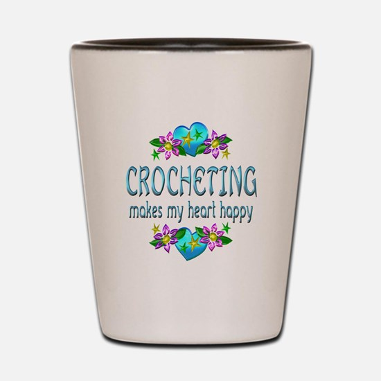 Crocheting Heart Happy Shot Glass