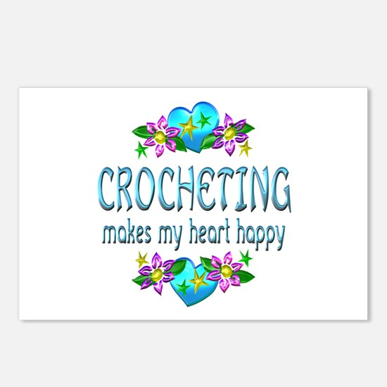 Crocheting Heart Happy Postcards (Package of 8)