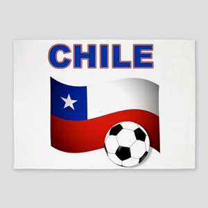 Chile Soccer 5'x7'Area Rug