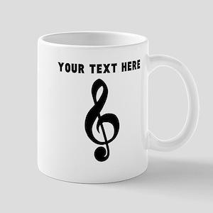 Custom Treble Clef Mugs