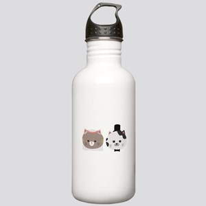 Cat Wedding Couple Cn5 Stainless Water Bottle 1.0L