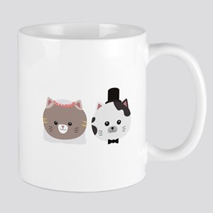 Cat Wedding Couple Cn557 Mugs