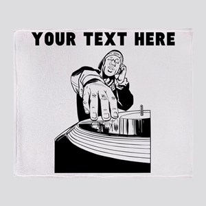 Custom DJ Throw Blanket
