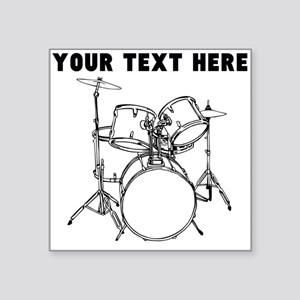Custom Drum Set Sticker