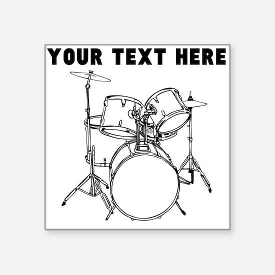custom drum set sticker