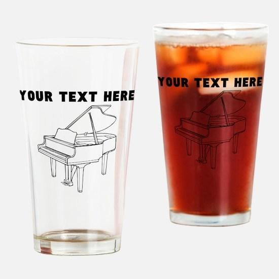 Custom Piano Drinking Glass