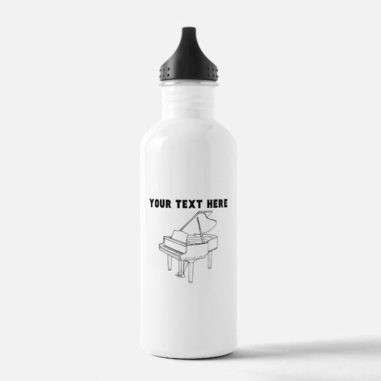 Custom Piano Sports Water Bottle