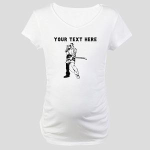 Custom Lead Singer Maternity T-Shirt