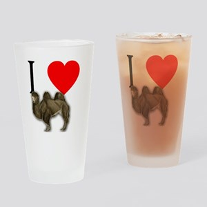 I Heart Camels I Love Camels Drinking Glass
