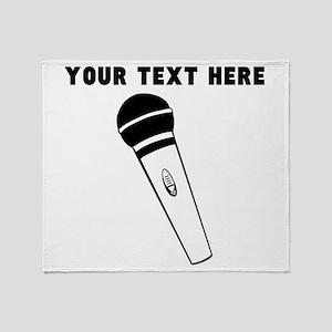Custom Microphone Throw Blanket