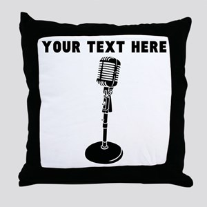 Custom Radio Microphone Throw Pillow