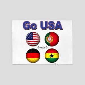 Go USA 2014 5'x7'Area Rug