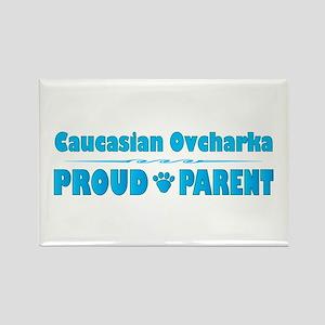 Caucasian Parent Rectangle Magnet