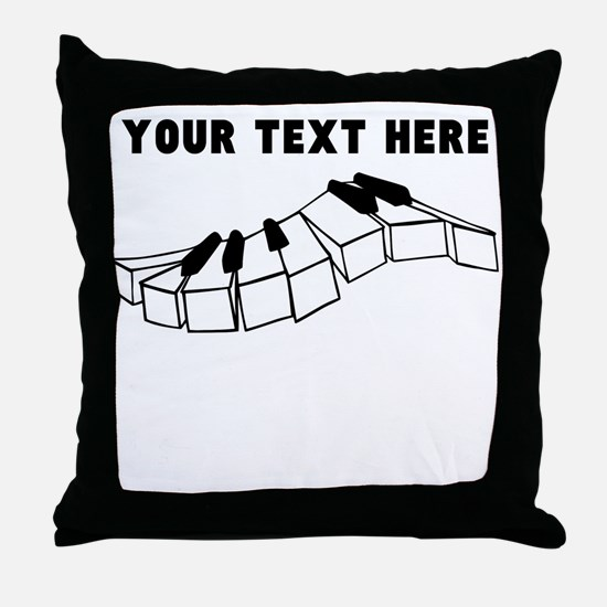Custom Piano Keys Throw Pillow
