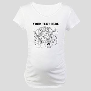 Custom Cartoon Rock Instruments Maternity T-Shirt