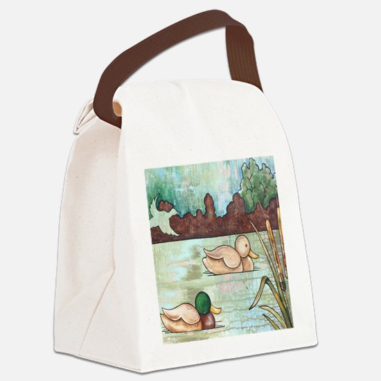 Mallard Duck Decoy Canvas Lunch Bag