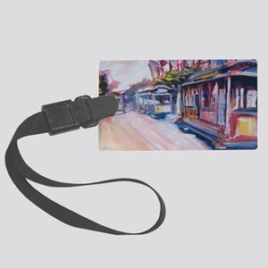 San Francisco Cable Cars Large Luggage Tag