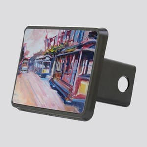 San Francisco Cable Cars Rectangular Hitch Cover