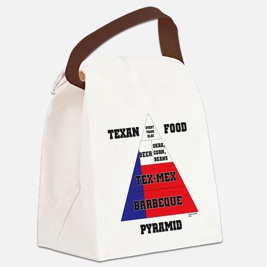 Texas Food Pyramid Canvas Lunch Bag