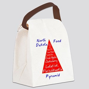 North Dakota Food Pyramid Canvas Lunch Bag