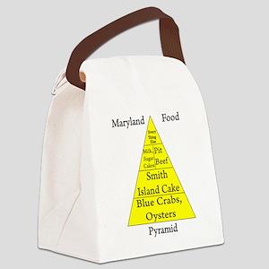 Maryland Food Pyramid Canvas Lunch Bag
