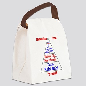 Hawaii Food Pyramid Canvas Lunch Bag