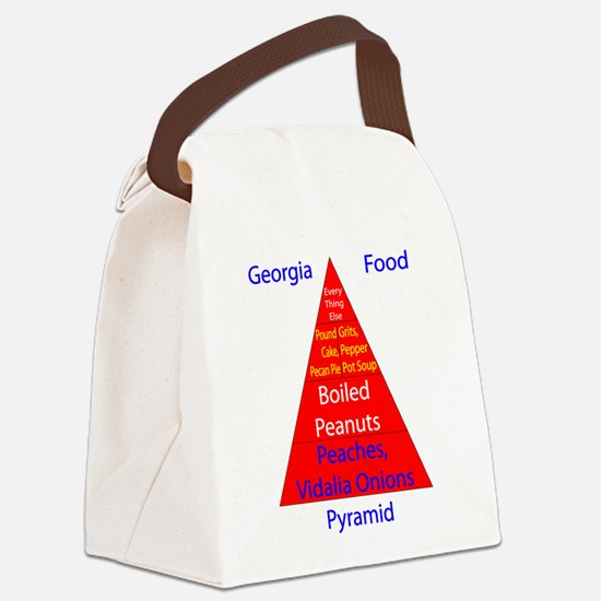 Georgia Food Pyramid Canvas Lunch Bag
