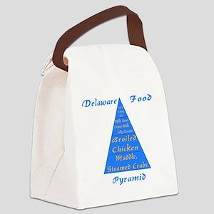 Delaware Food Pyramid Canvas Lunch Bag