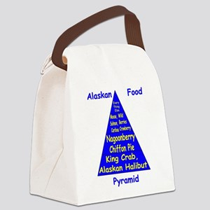 Alaskan Food Pyramid Canvas Lunch Bag