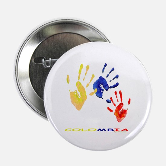 """Colombian hands 2.25"""" Button"""